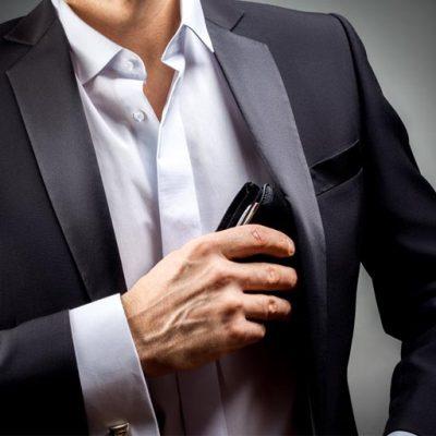 Portefeuille cuir Homme Noir