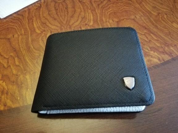 Portefeuille pour homme en tissu noir