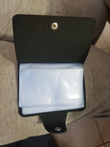 porte carte pour homme en cuir noir