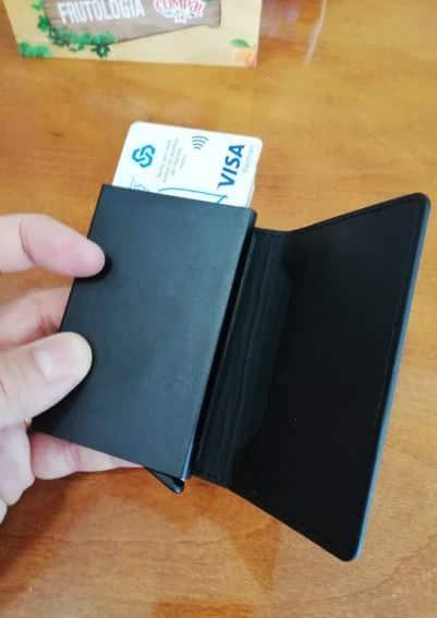 porte carte pour homme en cuir pas cher noir