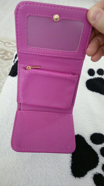 porte chequier en tissu pour femme rose