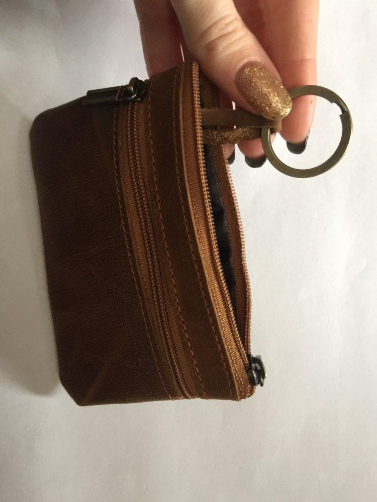 porte monnaie pour homme en cuir brun
