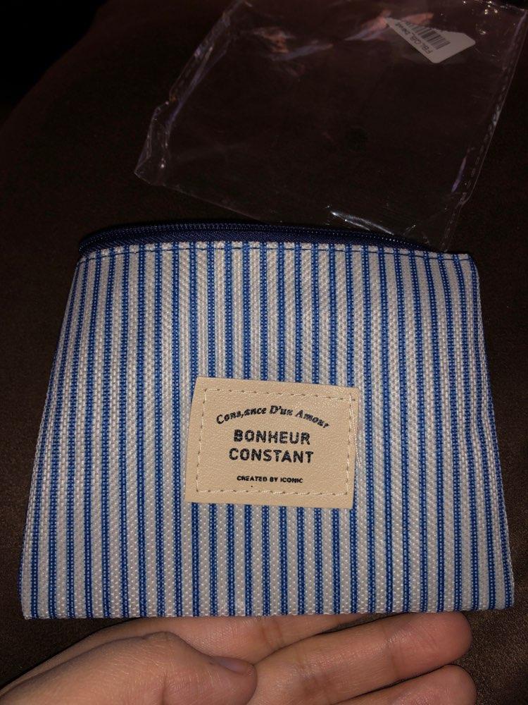Porte Monnaie Homme Tissu Bleu Foncé Veritable 1