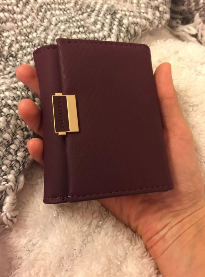 portefeuille pour femme en tissu rose