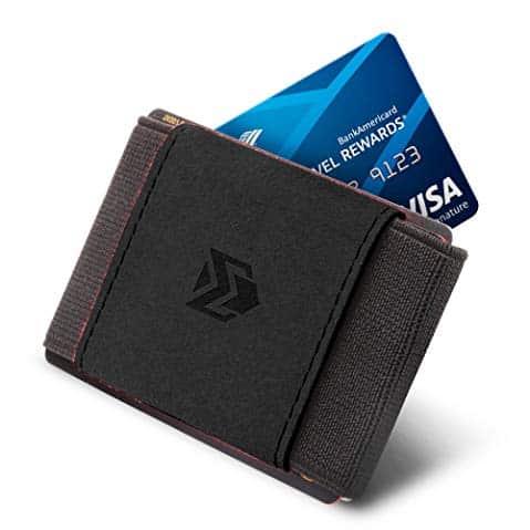 04. Minimaliste Slim Portefeuilles pour hommes Femmes - Porte carte de crédit de poche élastique à l'avant Portefeuille