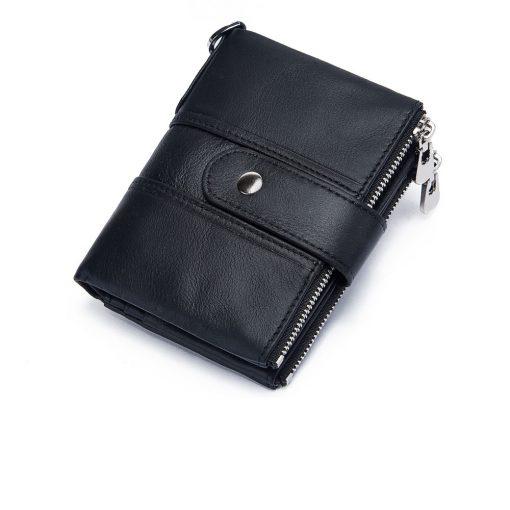 Portefeuille Pour Homme En Cuir Avec Chainette argent