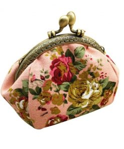 Porte Monnaie Pour Femme En Tissu Veritable