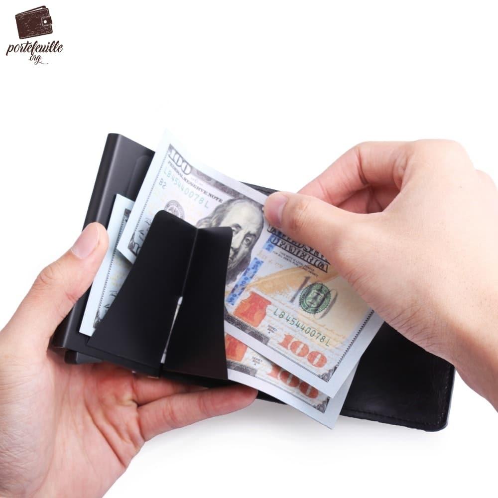 Cartes en Cuir Porte-Cartes Porte-Monnaie de cr/édit Cas RFID Carte de Visite Femmes Hommes Cadeau f/ête des p/ères Caf/é