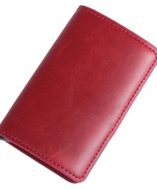 Porte Carte Visite Cuir Rouge Pour Homme