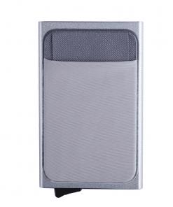 Porte Carte Tissu Gris Pour Femme Original