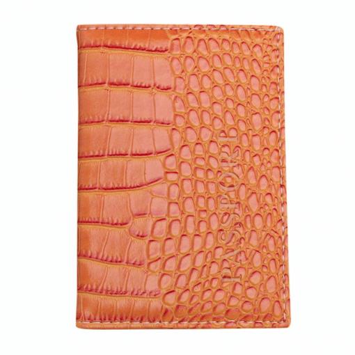 Porte Carte Femme Fossil Orange Pas Cher