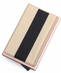 Porte Carte Tissu Et Métal Pour Femme Original